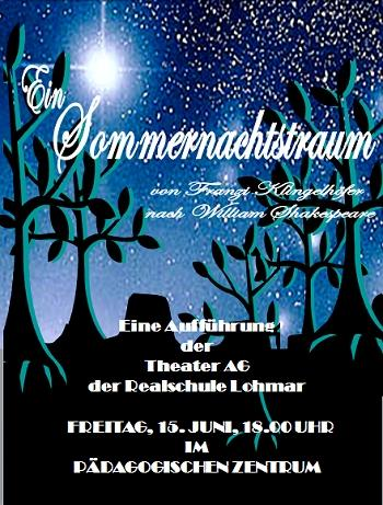 Plakat zum Sommernachtstraum