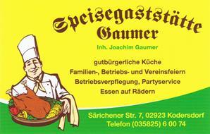 Speisegaststätte Gaumer