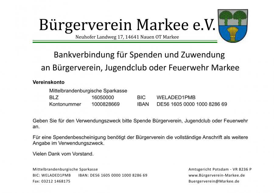 Spenden & Bankverbindung Bürgerverein (PDF)