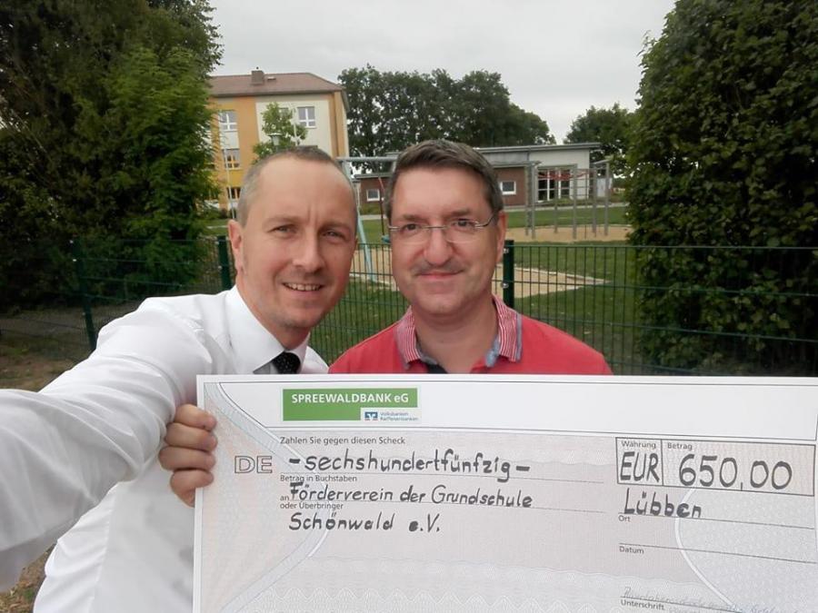 Spendenübergabe Spreewaldbank