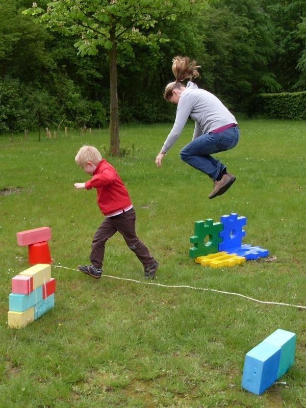 Spielen beim Familientag