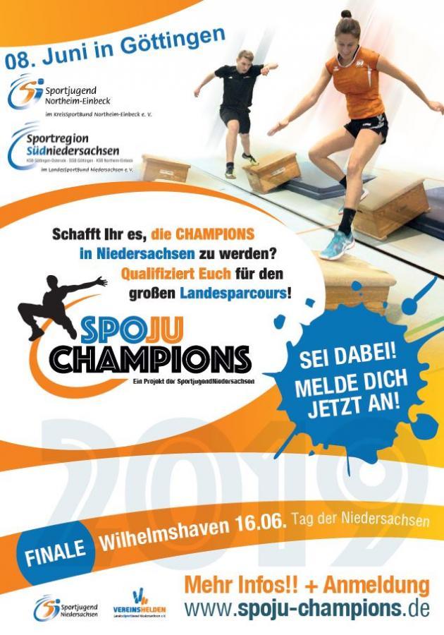 SpoJuChampions Plakat