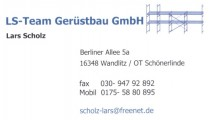 Sponsor Gerüstbau LS Team
