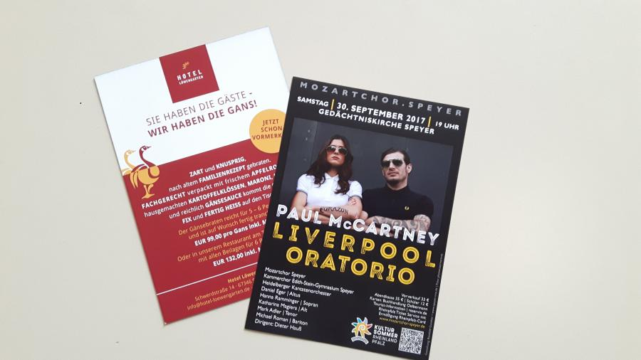 Flyer Paul McCartney Liverpool Oratorio