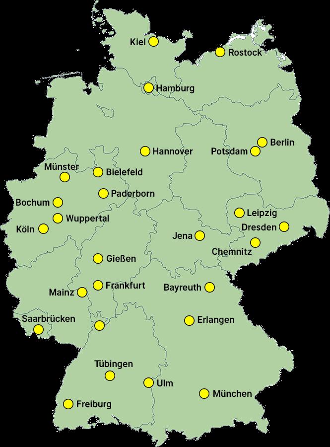 unikliniken deutschland karte DGSP • Deutsche Gesellschaft für Sportmedizin und Prävention e.V.