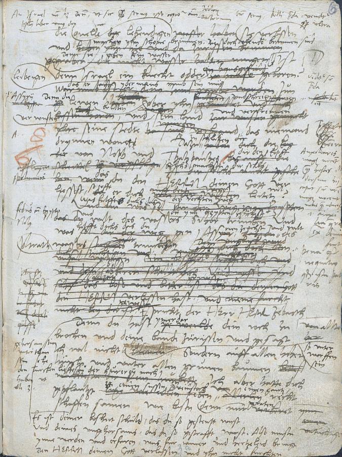 Martin Luther. Druckmanuskript zur Übersetzung des Propheten Jeremia