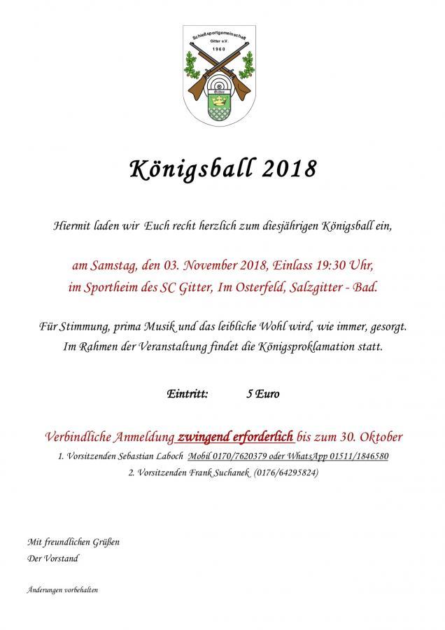 Königsball 2018