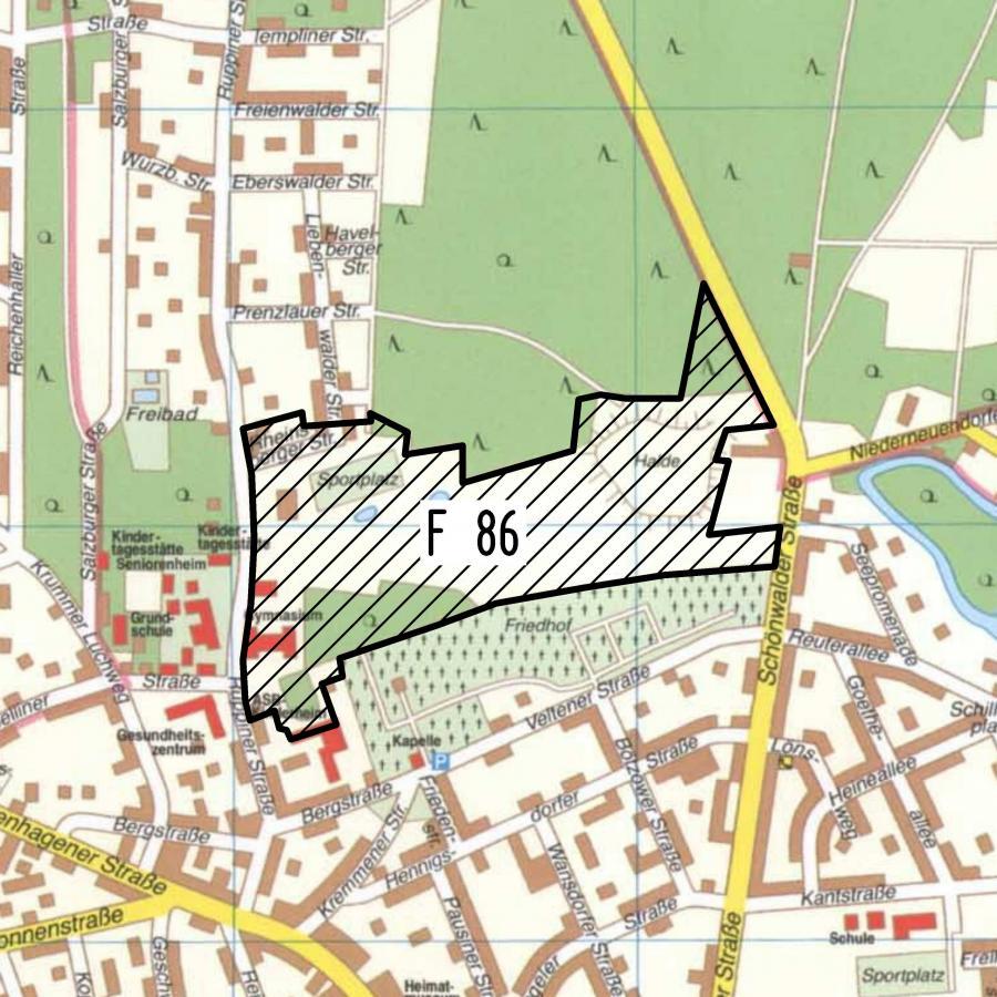 F 86 Stadtplanausschnitt