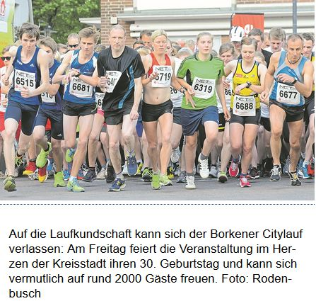 Startphase Citylauf