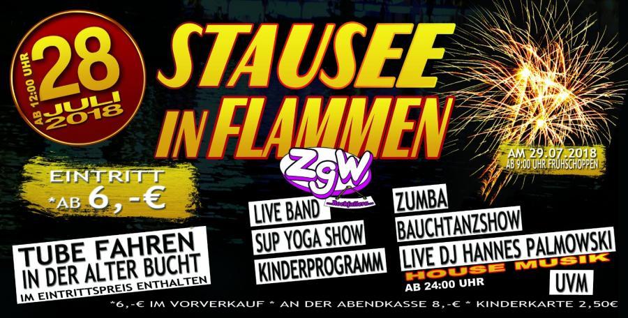 Stausee in Flammen