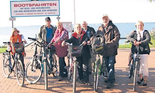 Gruppenbild der Radwanderer am Steinhuder Meer