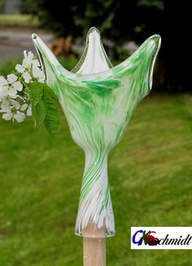 Stockwindlicht Weiß mit Grünmischung