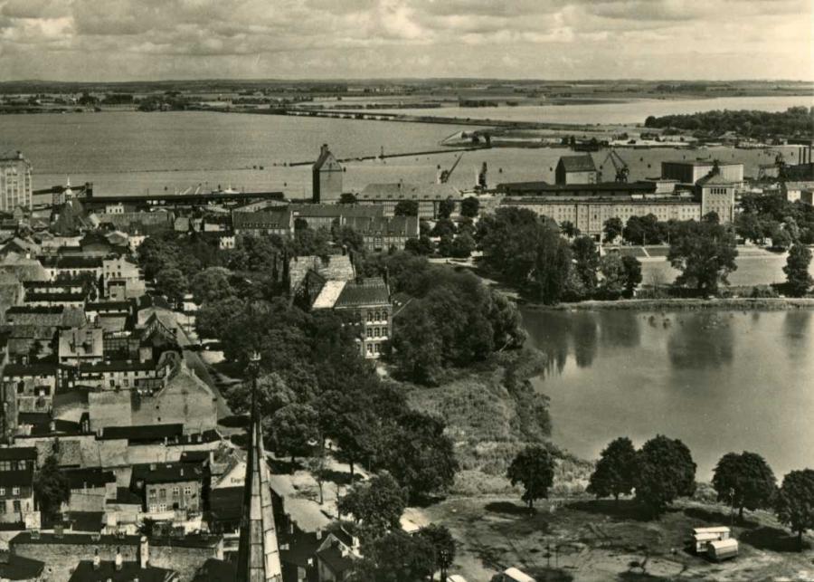Stralsund Blick vom Kirchturm 1964