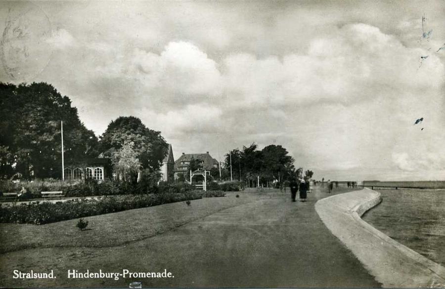 Stralsund Hindenburg-Promenade 1929