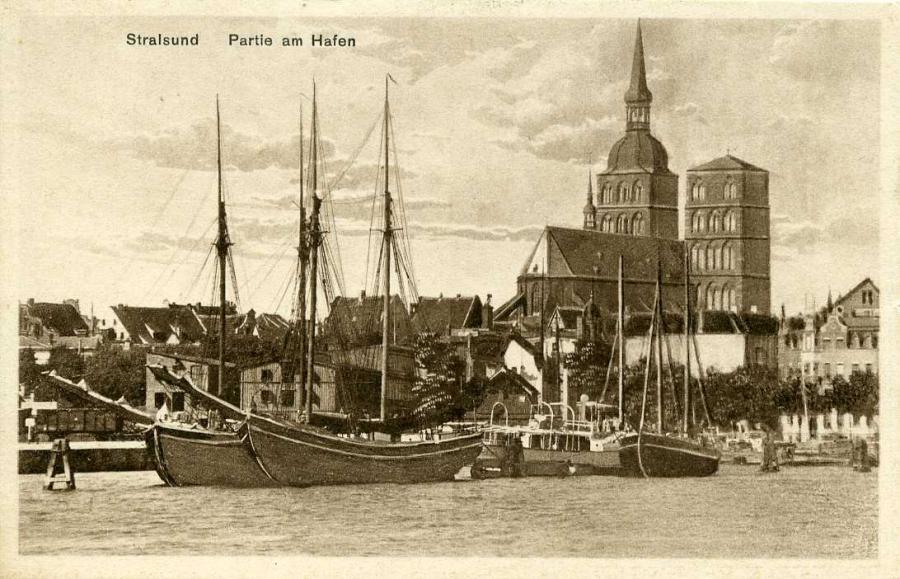 Stralsund Partie am Hafen