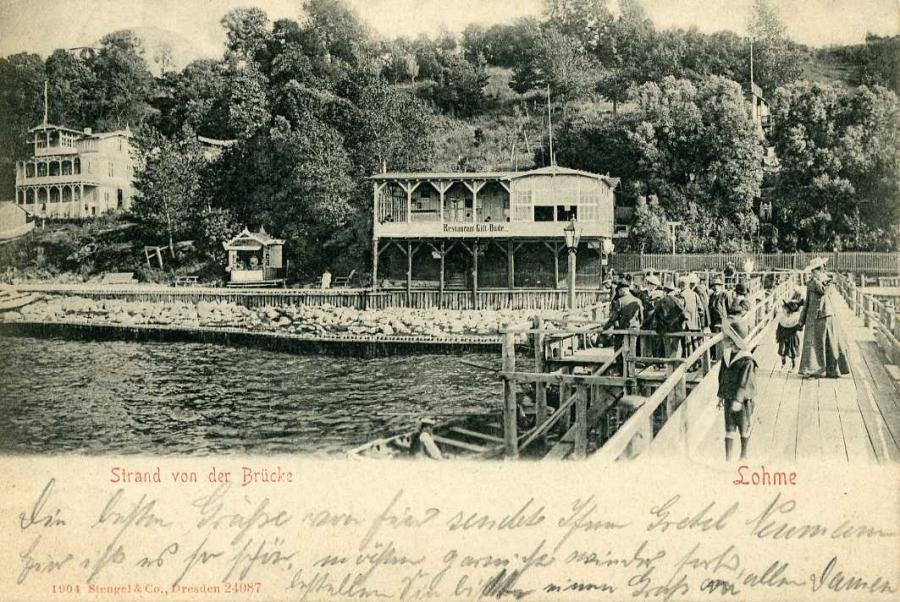 Strand von der Brücke Lohme