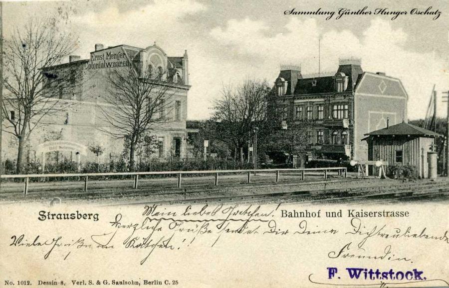 Strausberg Bahnhof und Kaiserstraße