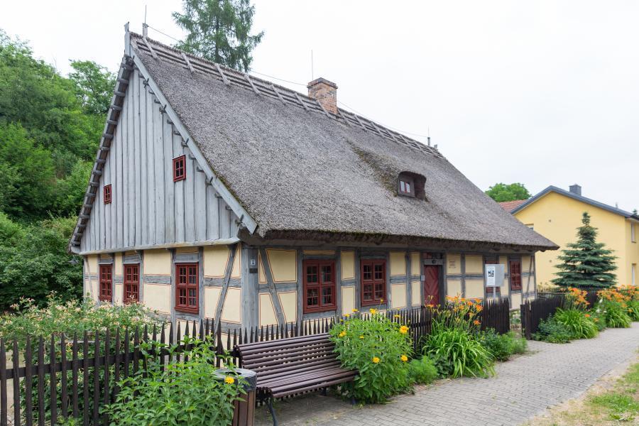 Strohhaus Neuzelle, Museum, Flusslandschaft Oder, Seenland Oder-Spree, Foto Florian Läufer