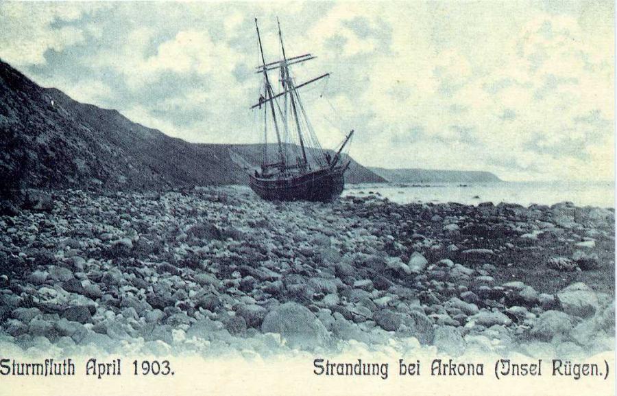 Sturmflut April 1903 Strandung bei Arkona