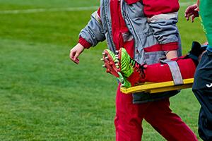 Symbolfoto verletzter Sportler