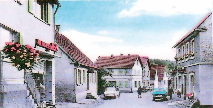 Haupstraße im Jahre 1968