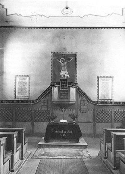 Das Kircheninnere nach Renovierung 1881