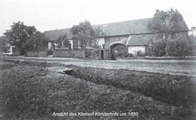 Ansicht des Kleinen Klosterhofs um 1850