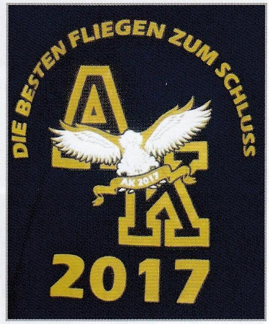 Aus dem Lohmarer Stadtanzeiger vom 29./30.7.2017: T-Shirtaufdruck der letzen Realschul-Abschlussklassen anno 2017