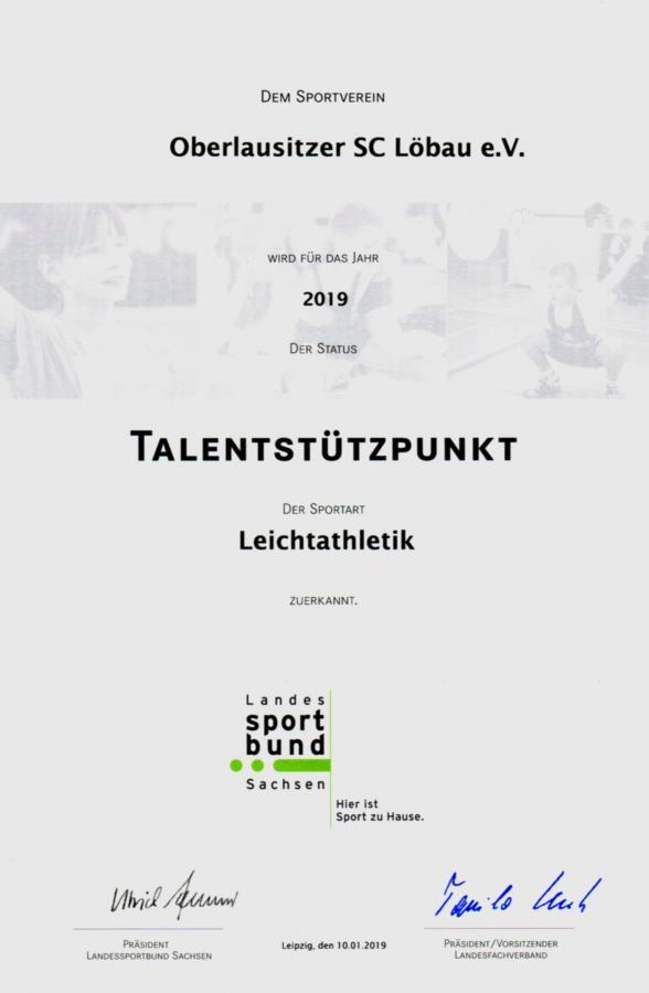 Talentestützpunkt 2019
