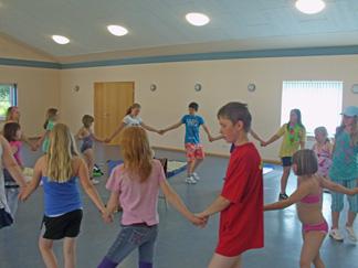 Tanz beim Kinderturnen
