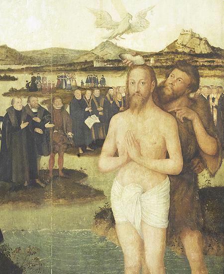 Cranach d.J.: Die Taufe Jesu