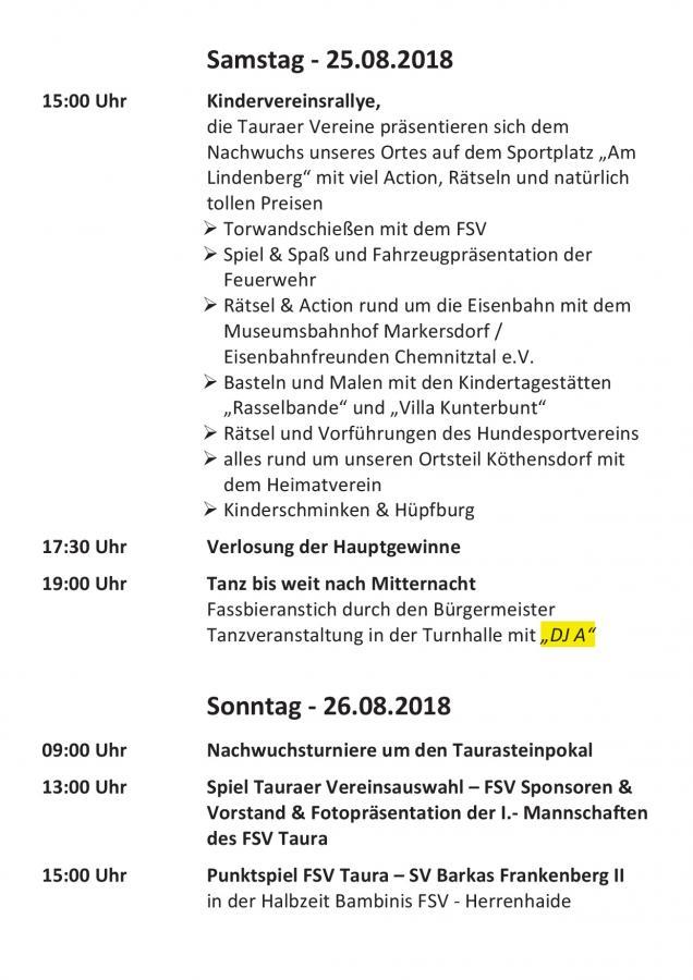 Jubiläum FSV Taura