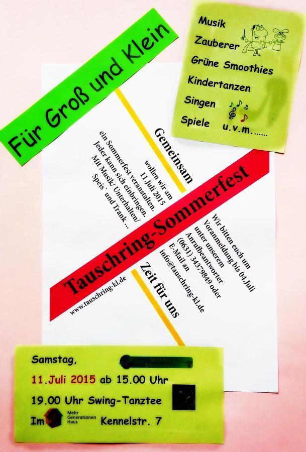 Tauschring-Sommerfest-2015-Plakat