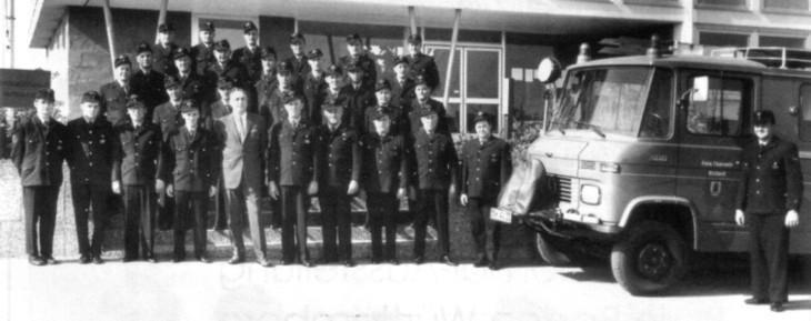 Die Wehr erhält im September 1970 ihr erstes Feuerwehrauto
