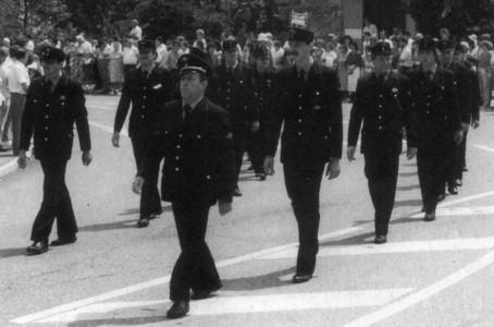 Festzug zum 75-jährigen Jubiläum der Feuerwehrkapelle Kirchardt
