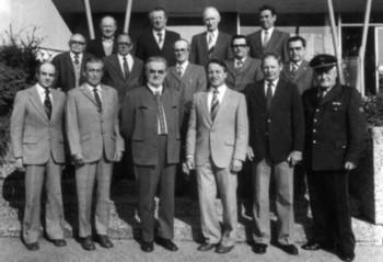 Die Altersmannschaft der Feuerwehr Kirchardt im Jubiläumsjahr 1981