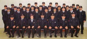 Die Wehrmänner der Freiwilligen Feuerwehr Kirchardt im Jubiläumsjahr 2006