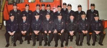 Die Altersmannschaft der Feuerwehr Kirchardt im Jubiläumsjahr 2006