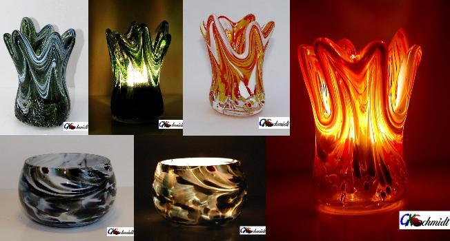 Teelichter, gefertigt für Weihnachtsfeiern
