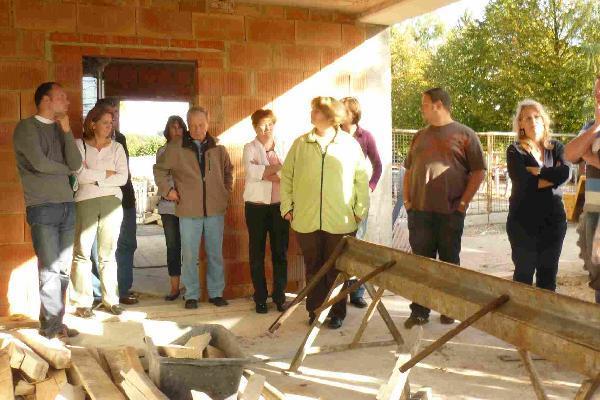 Foto: Baumaßnahme zur Integration des Kindergartens in das Bürgerhaus Holzhausen