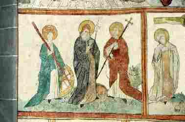 "Foto: Wandmalerei in der ev. Kirche ""St. Georg"" Immenhausen"