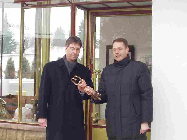 Foto: Einweihung des sanierten Pavillons / Pförtnerhauses an der Glashütte
