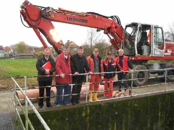 Foto: Baubeginn für das Regenrückhaltebecken an der Hochzeitsstraße