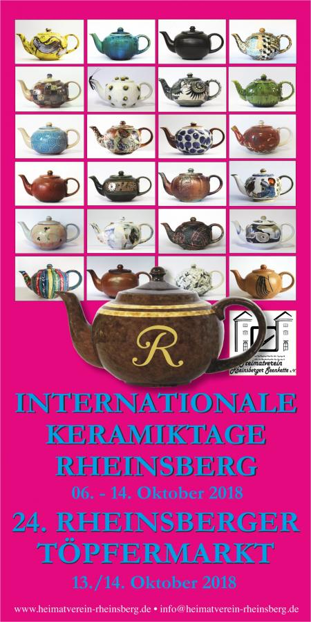 Cover Broschuere 24. Rheinsberger Töpfermarkt 2018