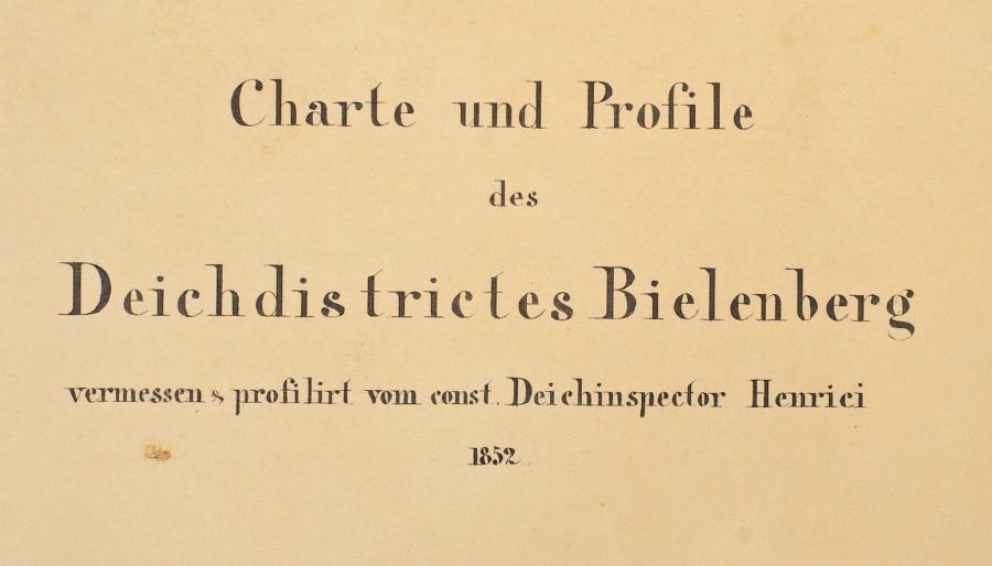 Deichakte Bielenberg 1852