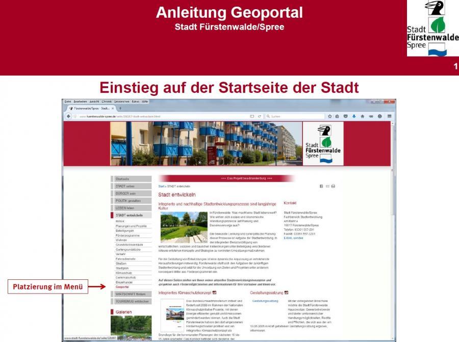 Hilfe Geoportal