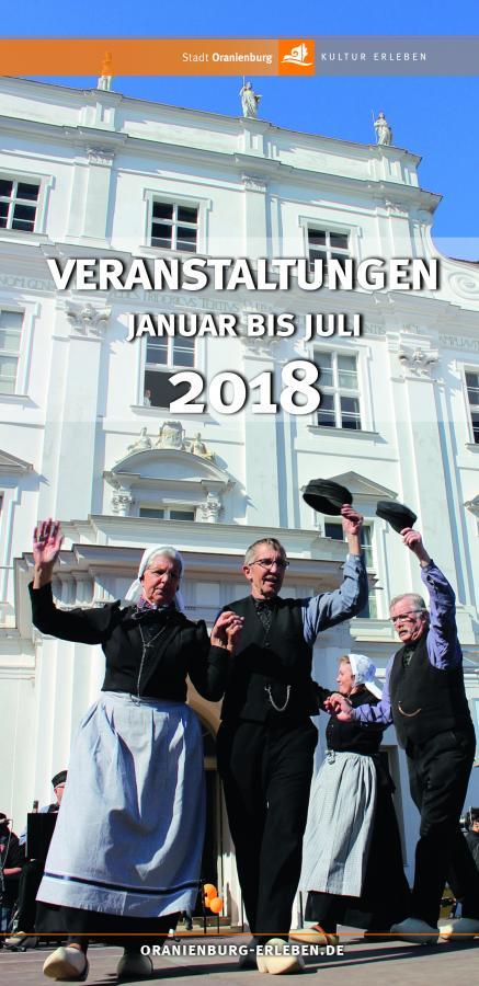 Veranstaltungsbroschüre Erstes Halbjahr 2018