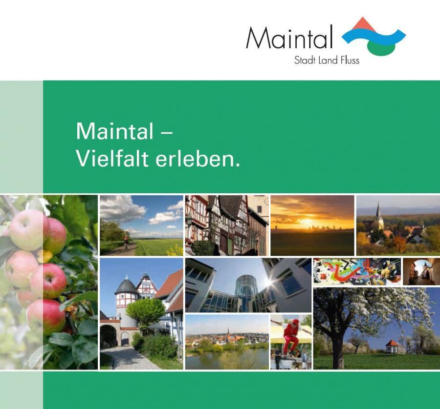Externer Link zur PDF-Datei Informationsbroschüre Maintal - Vielfalt erleben; Bild zeigt das Titelblatt der Broschüre; Foto: siehe Impressum Seite 40