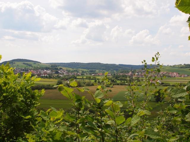 Blick vom Panoramapfad am Hühnerberg