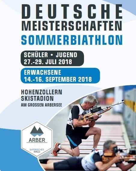 Titelbild Flyer Deutsche Meisterschaften Sommerbiathlon 2018